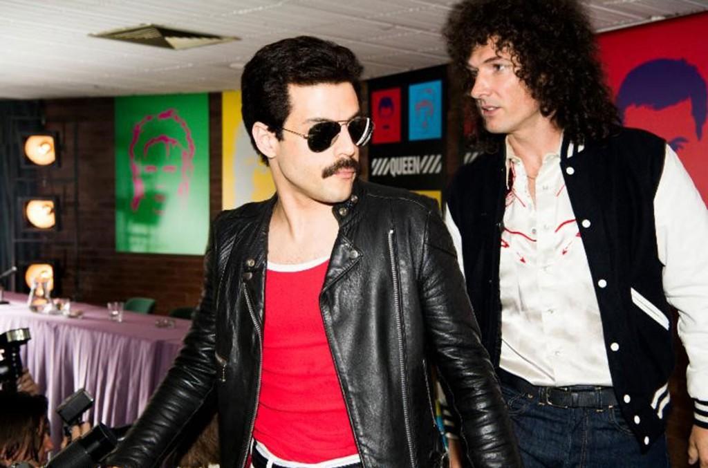 Rami Malek as Freddie Mercury and Gwilym Lee as Brian May in Twentieth Century Fox's 'BOHEMIAN RHAPSODY.'