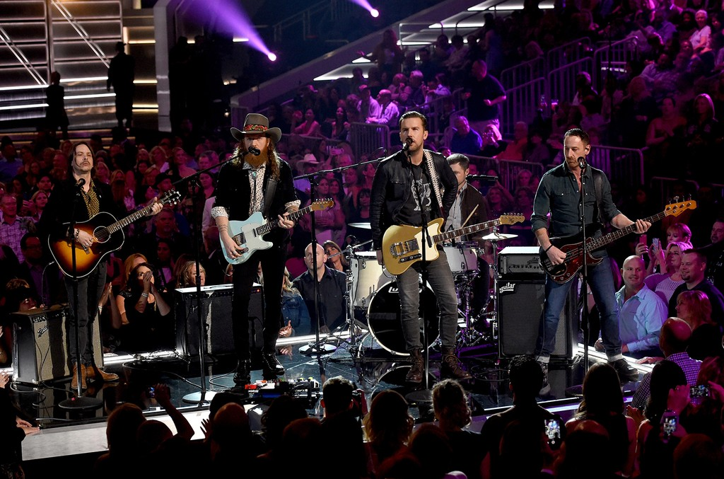 Brothers Osborne perform onstage during the 52nd Academy Of Country Music Awards at T-Mobile Arena on April 2, 2017 in Las Vegas.