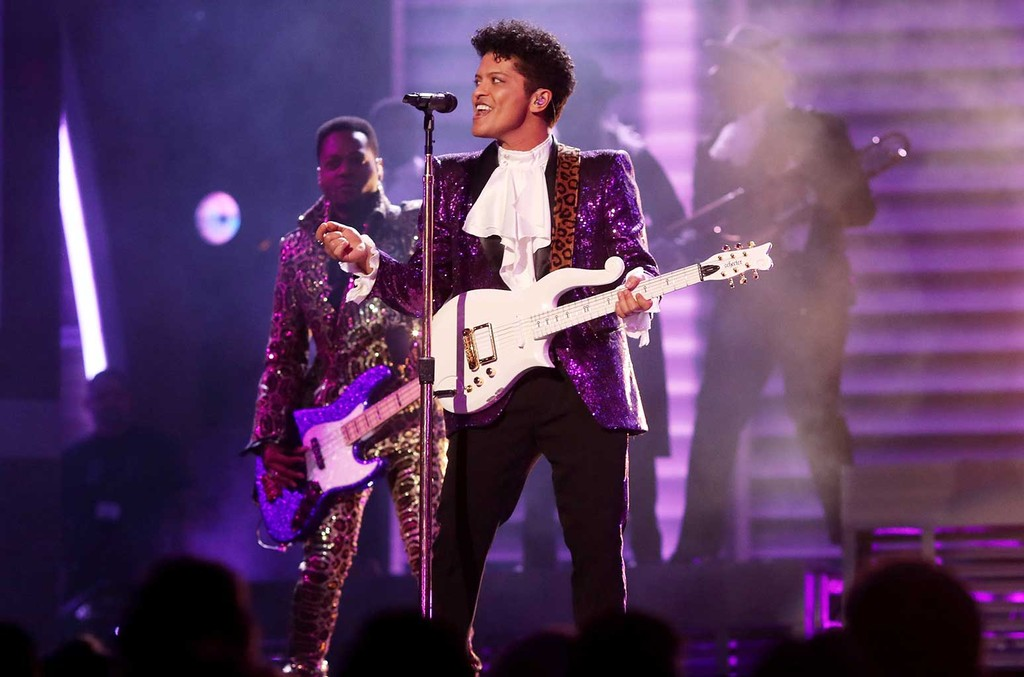Bruno Mars during The 59th Grammy Awards at Staples Center on Feb. 12, 2017 in Los Angeles.