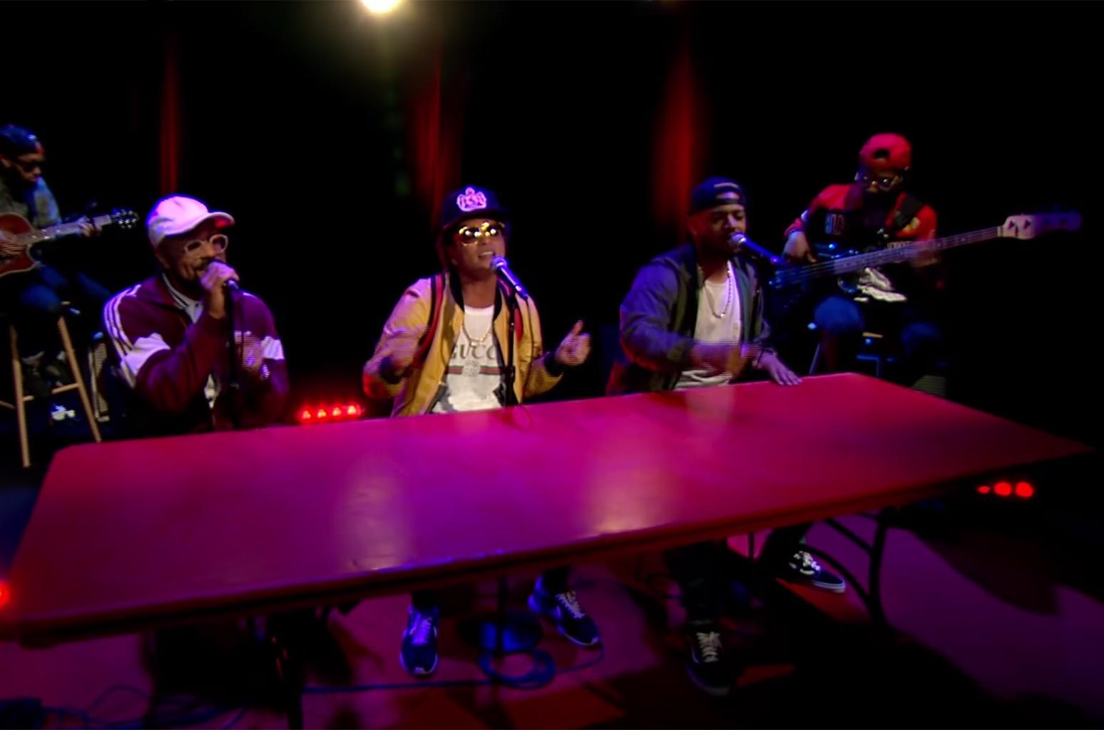 Bruno Mars performs on Charlie Rose