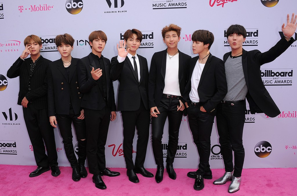 BTS attends the 2017 Billboard Music Awards at T-Mobile Arena on May 21, 2017 in Las Vegas.
