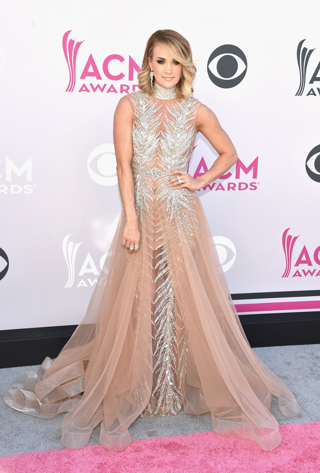 Carrie Underwood attends the 52nd Academy Of Country Music Awards at Toshiba Plaza on April 2, 2017 in Las Vegas.