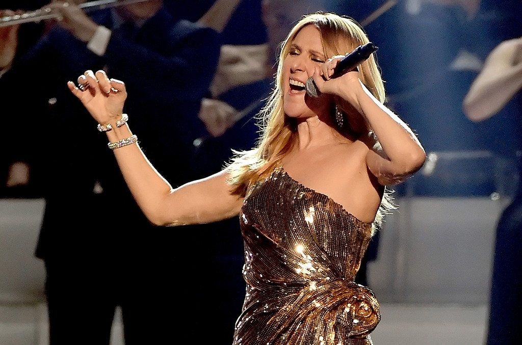Celine Dion performs at the 2016 Billboard Music Awards
