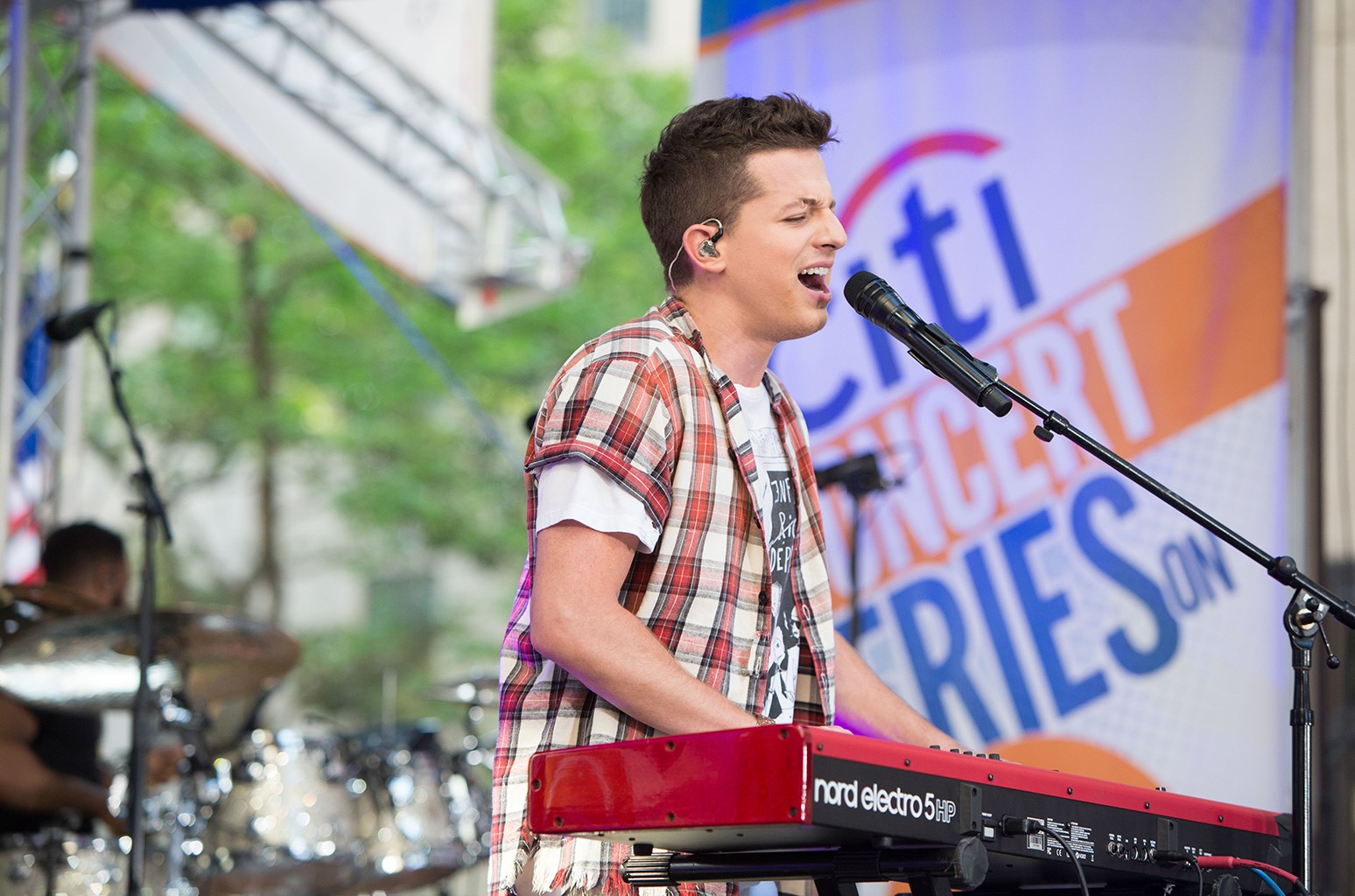Charlie Puth performs on NBC's Today at Rockefeller Plaza on June 30, 2017 in New York City.