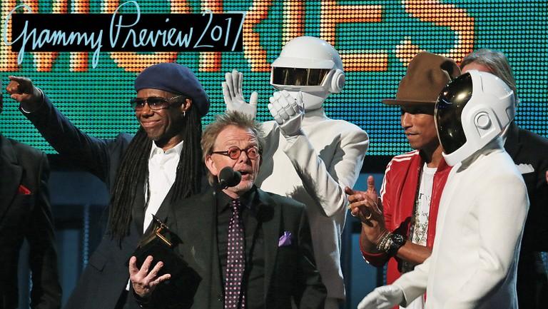 Daft Punk S 2014 Grammy Speech Paul Williams Breaks Down Speaking For The Robots Billboard Billboard