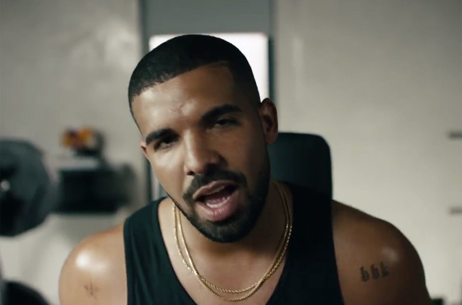 Drake in an ad for Apple Music.