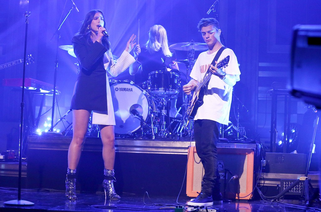Martin Garrix and Dua Lipa perform on The Tonight Show Starring Jimmy Fallon on March 22, 2017.