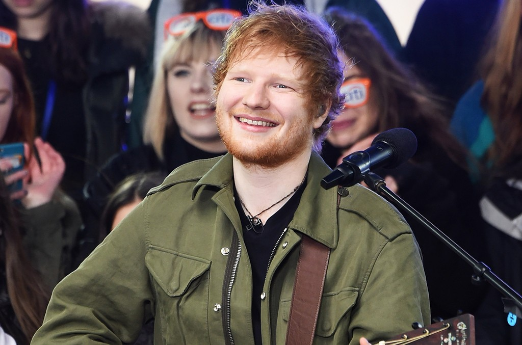 Ed Sheeran performs on NBC's Today at Rockefeller Plaza on March 8, 2017 in New York City.
