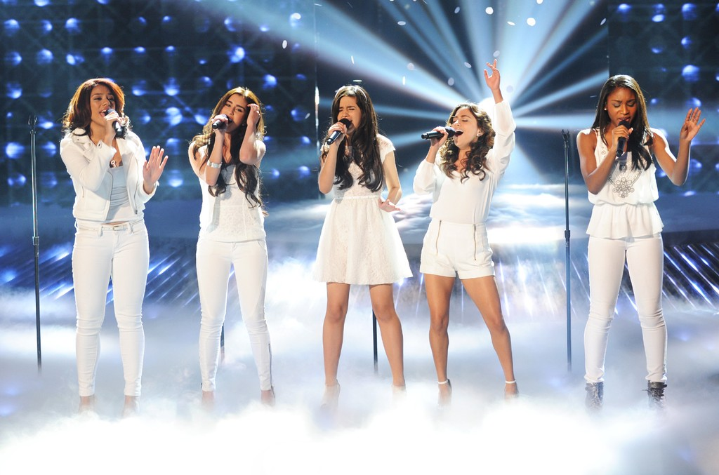 "Fifth Harmony perform onstage at FOX's ""The X Factor"" Season 2 Top 11 Live Performance Show on Nov. 14, 2012 in Hollywood, Calif."
