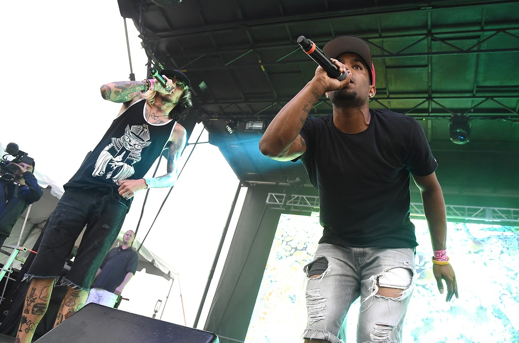 Futuristic performs onstage during the 2016 Billboard Hot 100 Festival