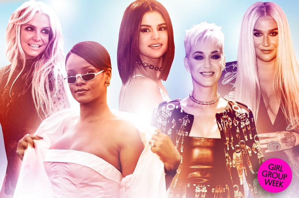 Britney Spears, Rihanna, Selena Gomez, Katy Perry & Kesha