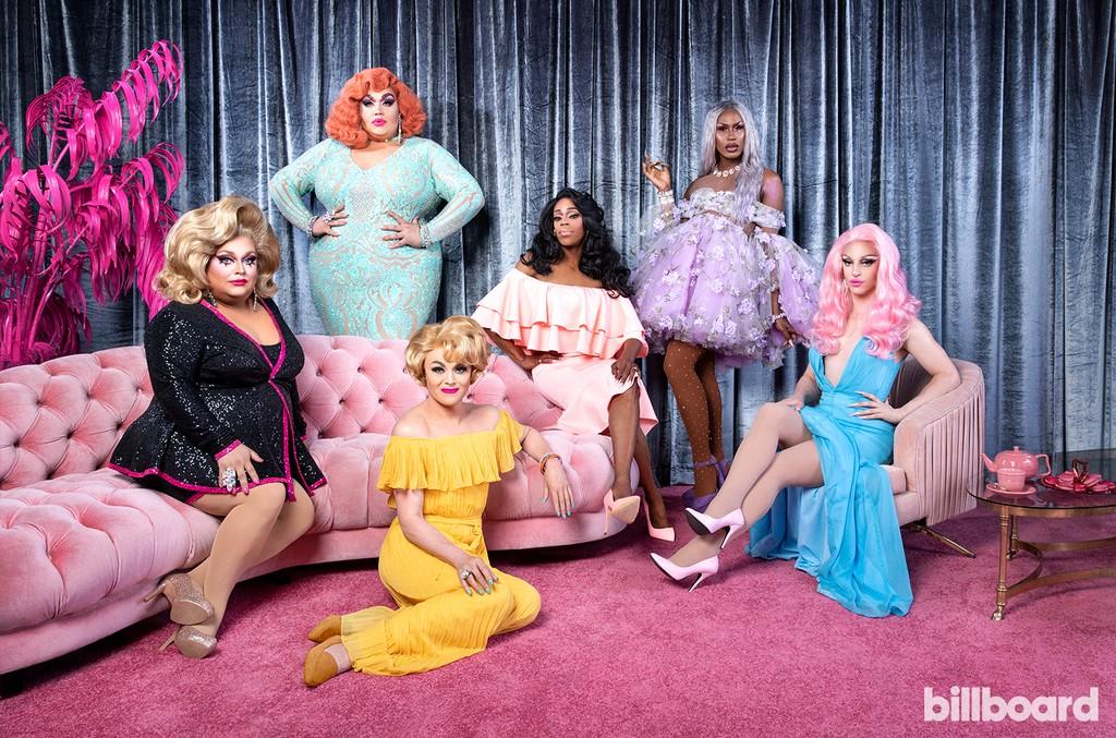 Ginger Minj, Eureka O'Hara, Tammie Brown, Jasmine Masters, Shea Couleé, and Miz Cracker