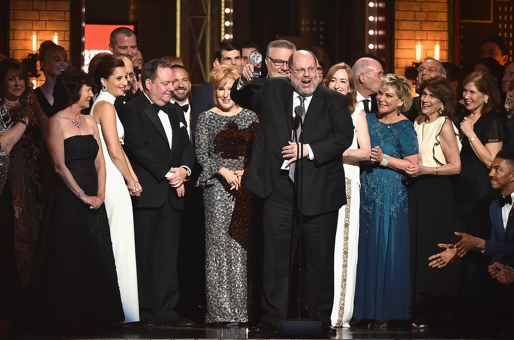 Producer Scott Rudin and the cast of Hello, Dolly!? accept the award for Best Revival of a Musical onstage during the 2017 Tony Awards at Radio City Music Hall on June 11, 2017 in New York City.