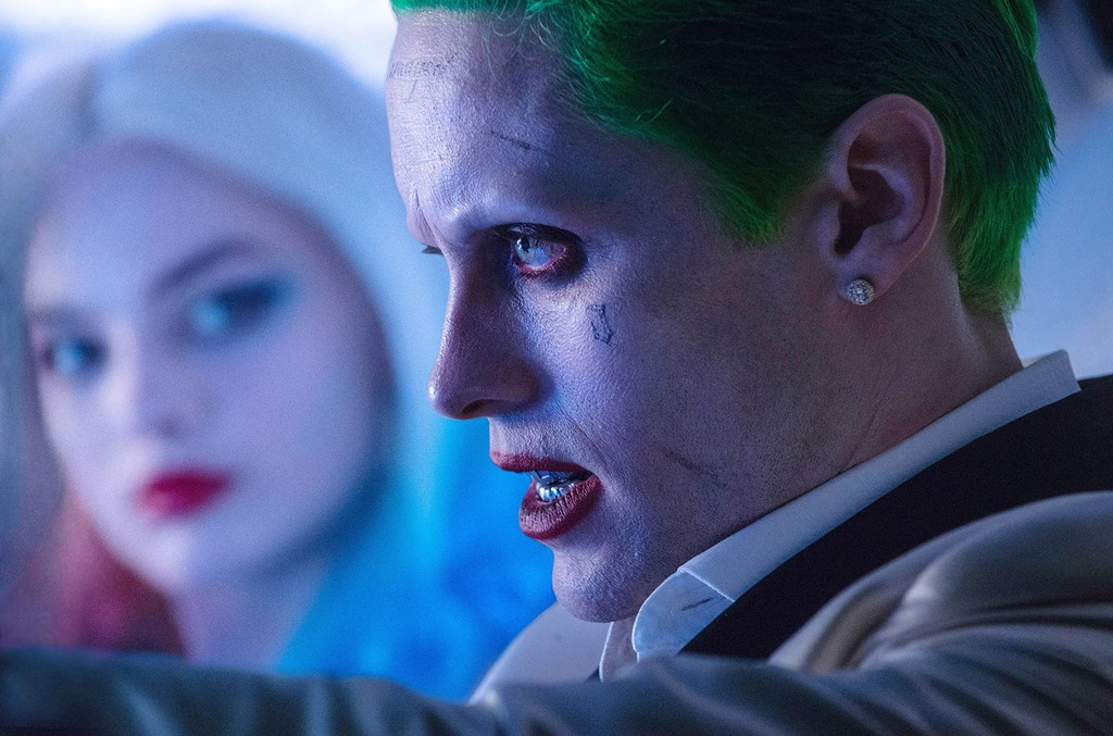 Margot Robbie and Jared Leto in Suicide Squad.