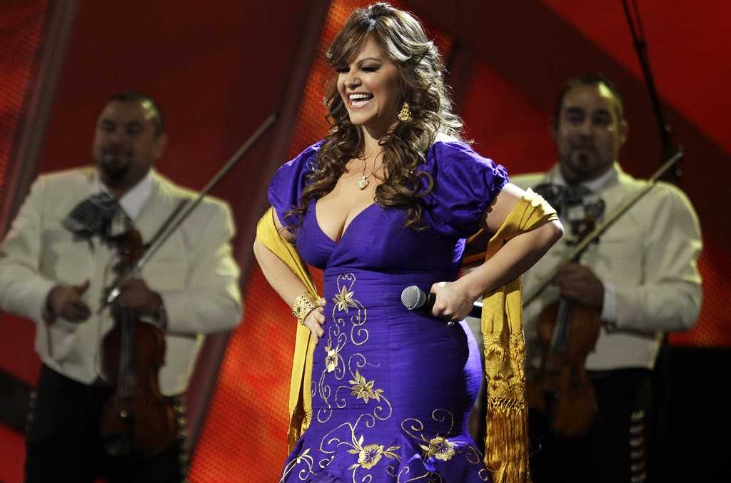 Jenni Rivera performs in 2010