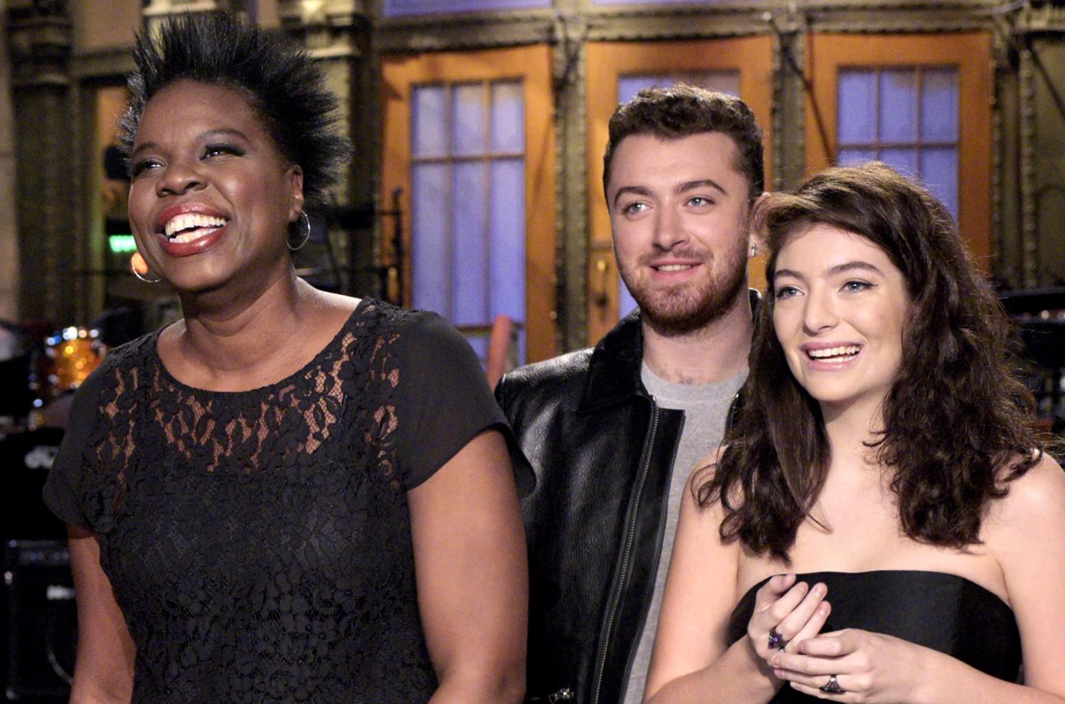 Leslie Jones and Lorde on Saturday Night Live