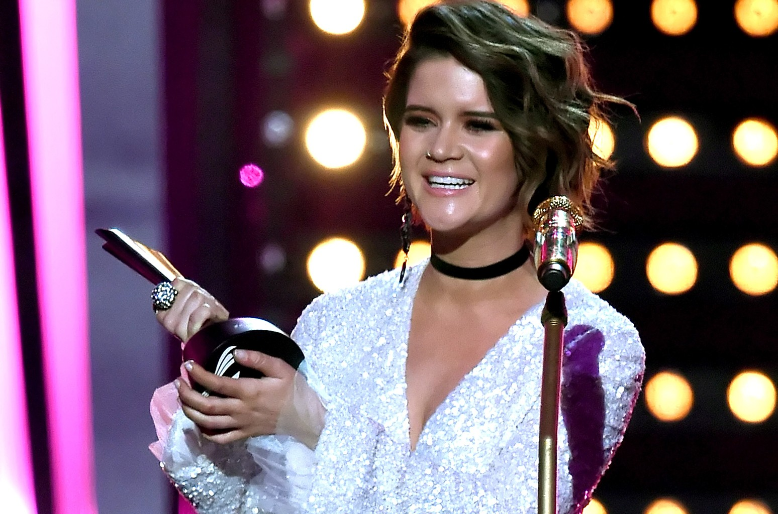 Maren Morris performs onstage during the 52nd Academy Of Country Music Awards at T-Mobile Arena on April 2, 2017 in Las Vegas.