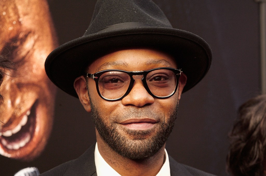 """Nelsan Ellis attends the """"Get On Up"""" premiere at The Apollo Theater on July 21, 2014 in New York City."""