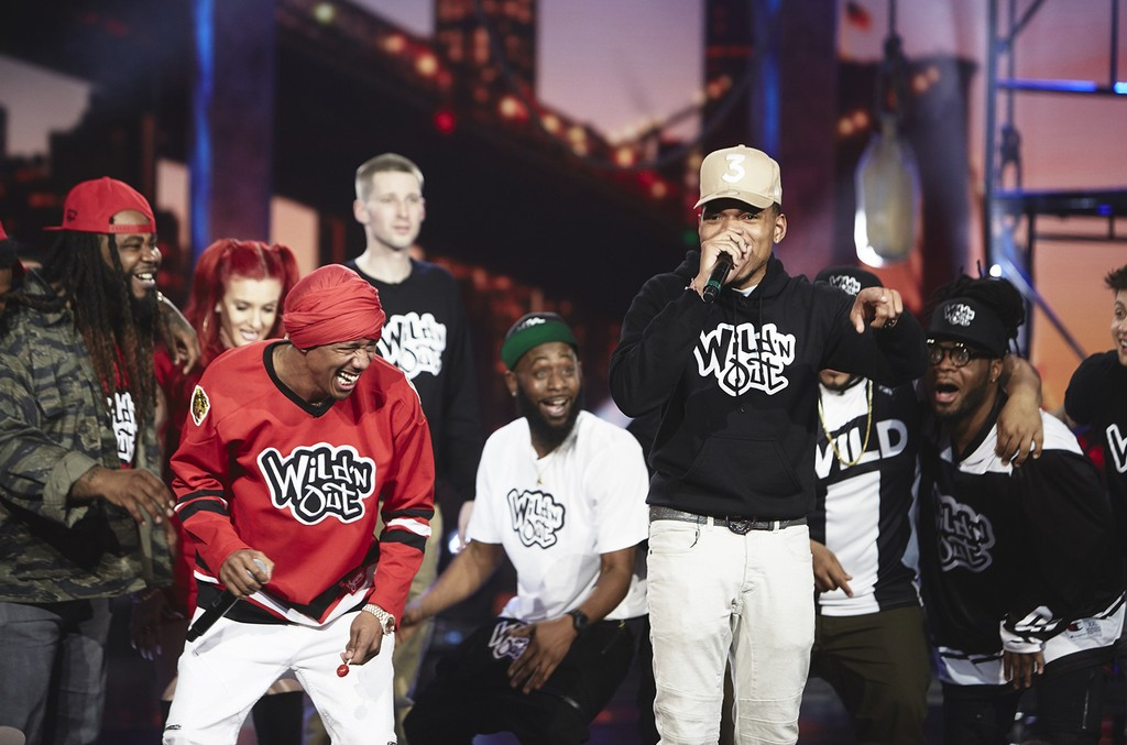 Nick Cannon and Chance the Rapper on MTV's Wild 'N Out
