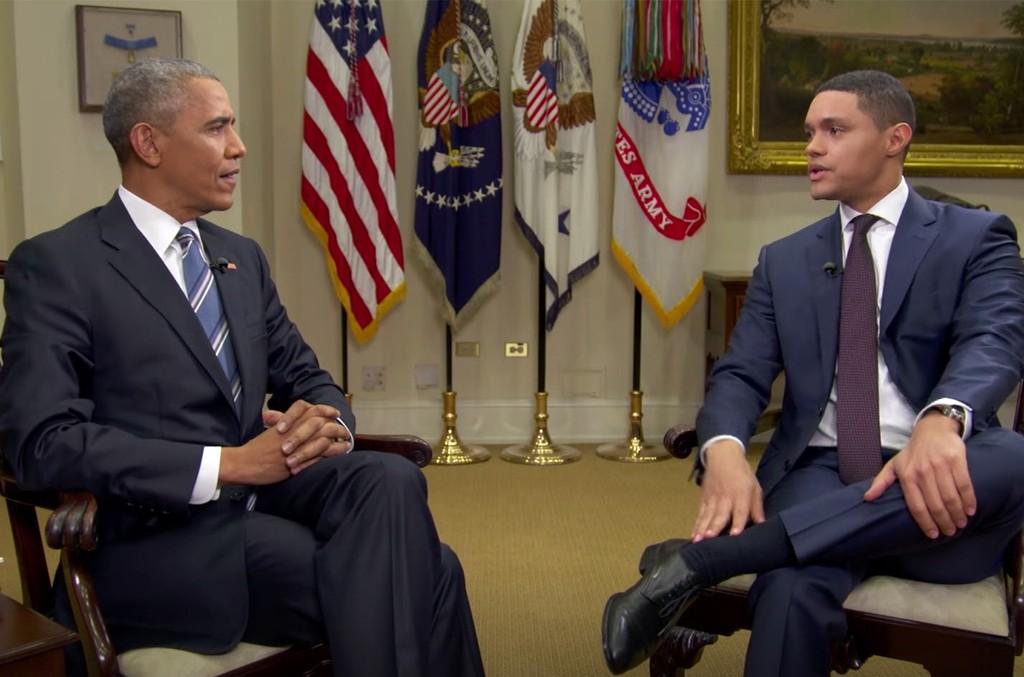 President Obama and Trevor Noah.