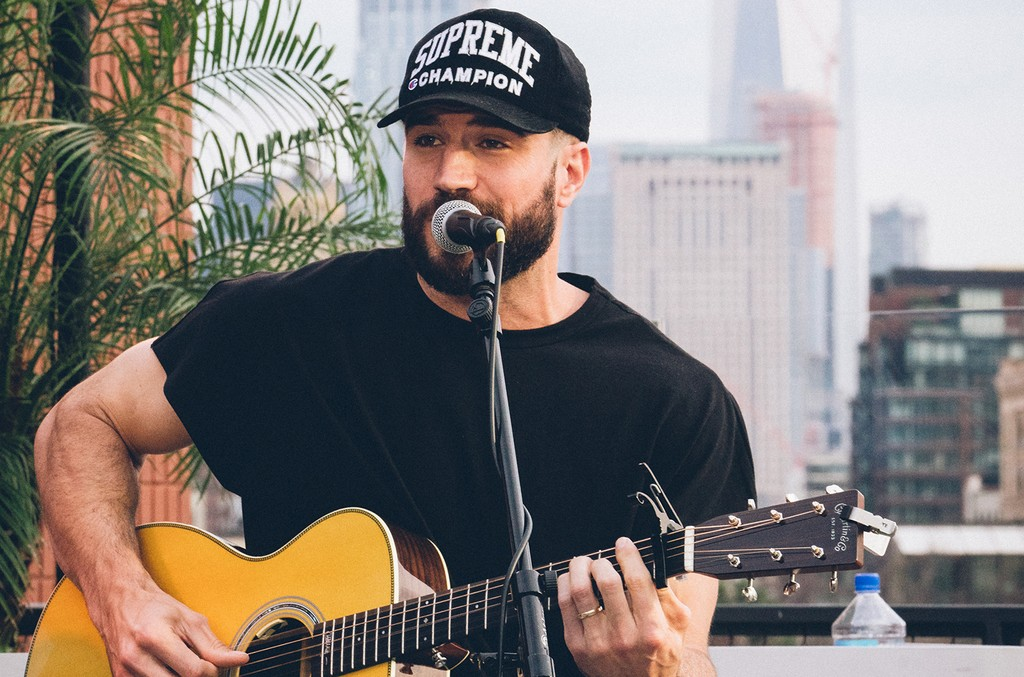 Sam Hunt performs during Samsung's summer concert series on June 29, 2017.