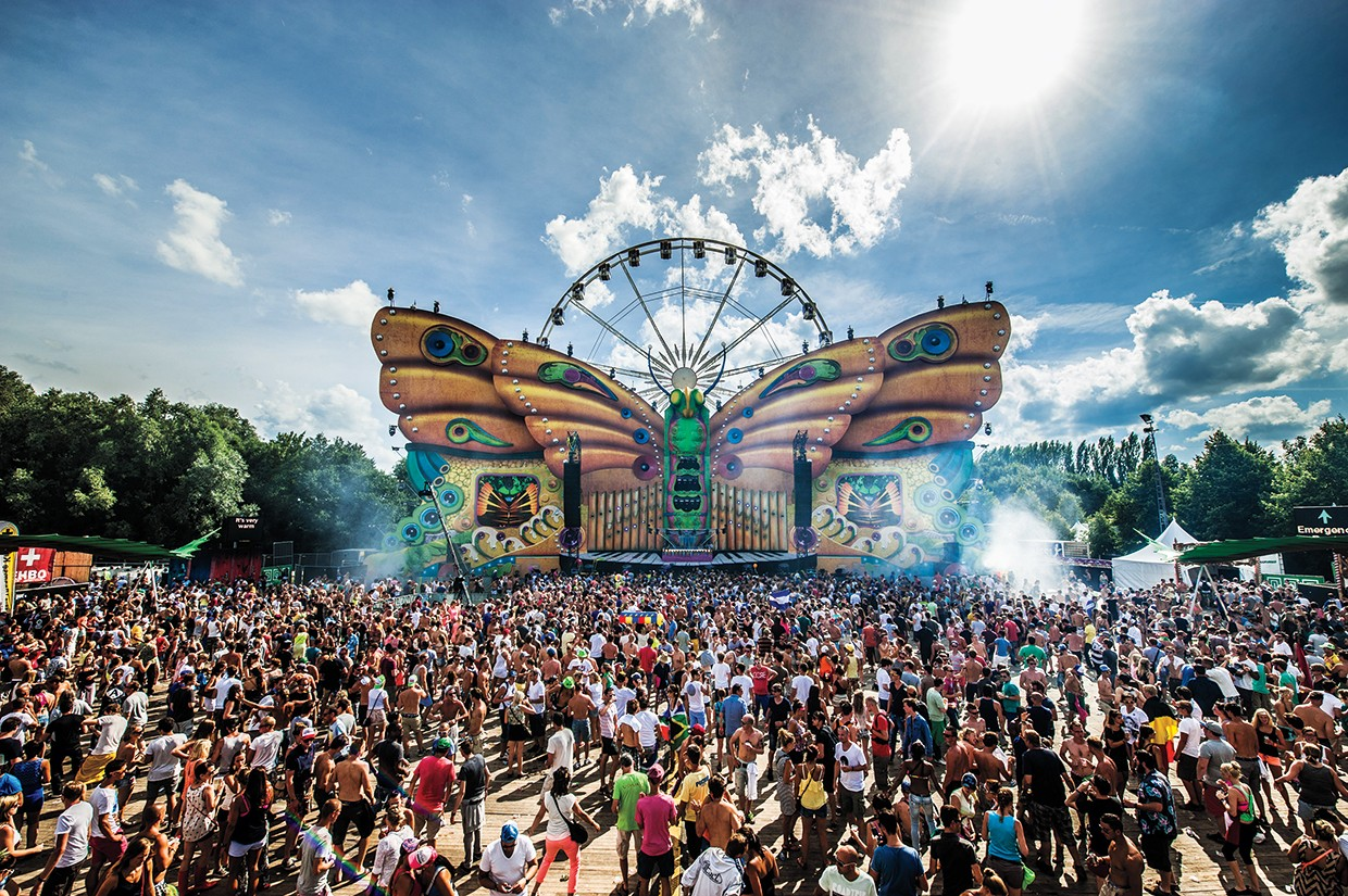 The crowd at the Tomorrowland festival, held in Belgium in July 2013.