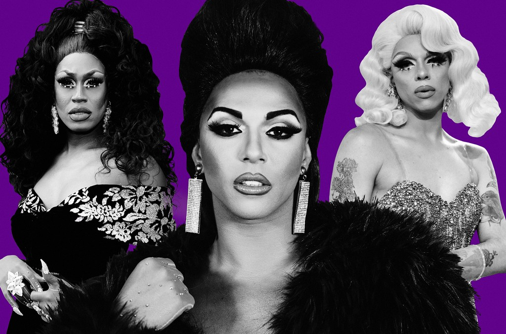 From left: Shea Coulee, Shangela & Aja