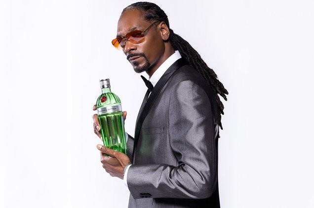 Snoop Dogg as a brand ambassador Tanqueray.