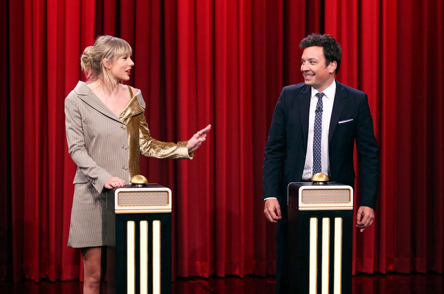 Taylor Swift and Jimmy Fallon