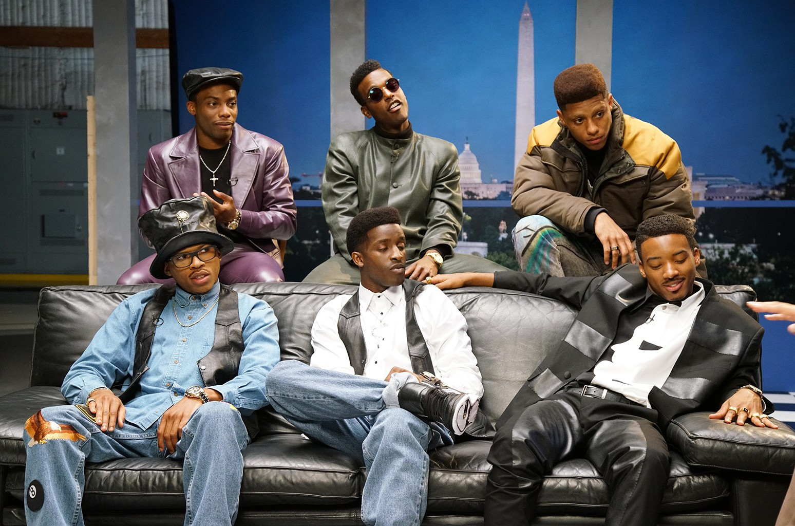 The cast of BET's The New Edition Story.