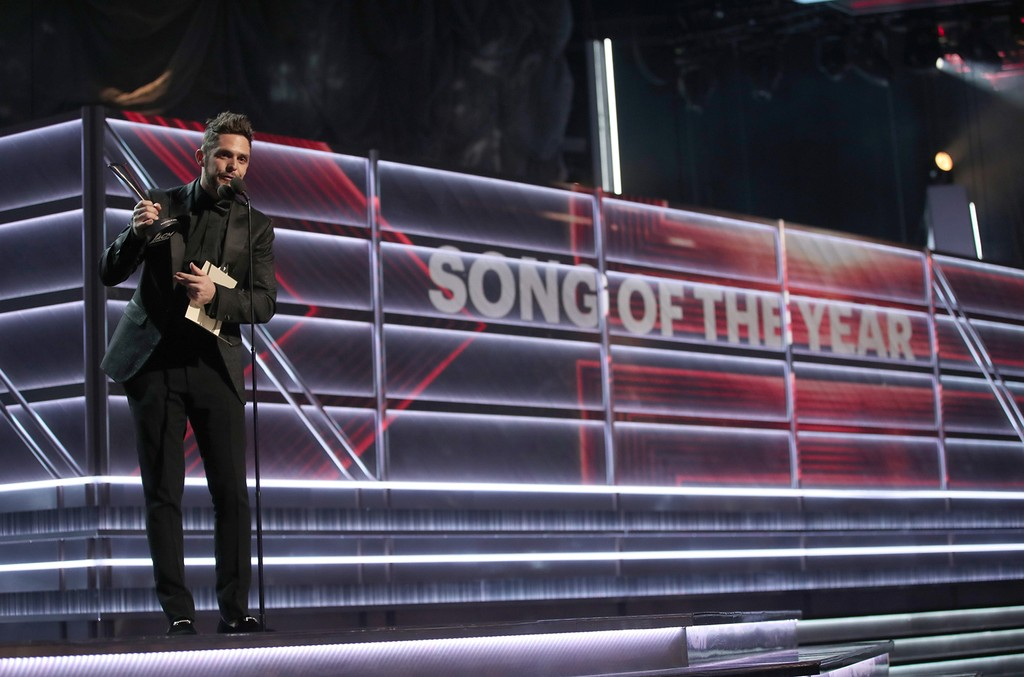 Thomas Rhett accepts the award for Song of the Year onstage during the 52nd Academy Of Country Music Awards at T-Mobile Arena on April 2, 2017 in Las Vegas.