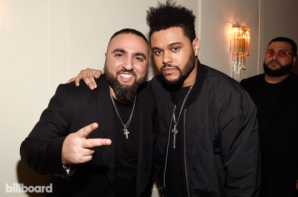 Tony Sal and The Weeknd attend Citi Presents 2017 Billboard Power 100 Celebration at Cecconi's Restaurant on Feb. 9, 2017 in Los Angeles.