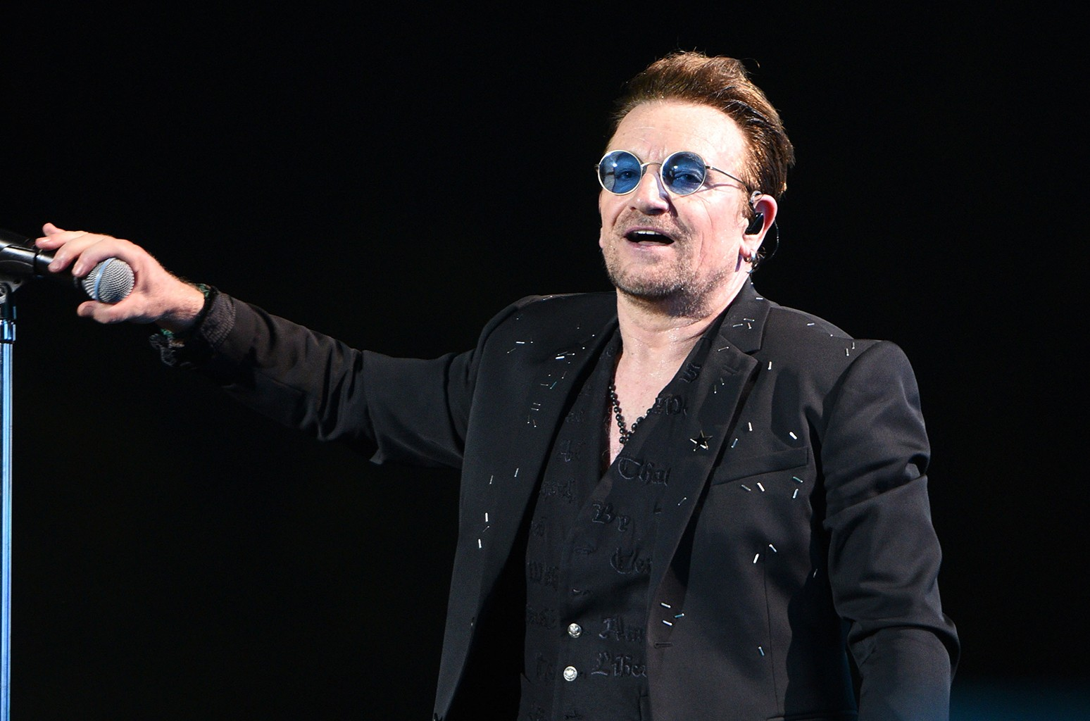 Bono of U2 performs during the 2017 Bonnaroo Arts And Music Festival on June 9, 2017 in Manchester, Tenn.