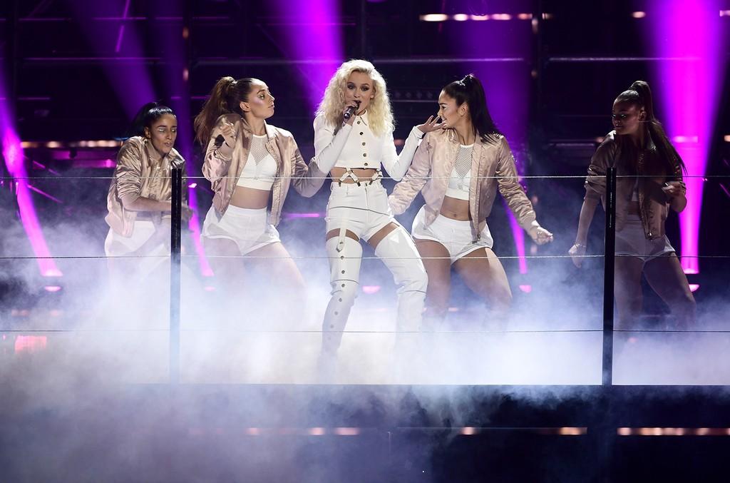 Zara Larsson performs at the MTV Europe Music Awards