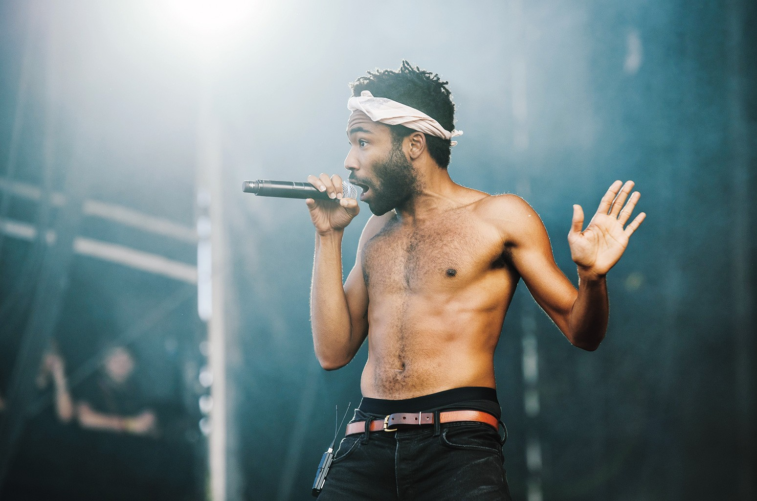 Performing as Childish Gambino in London in July.
