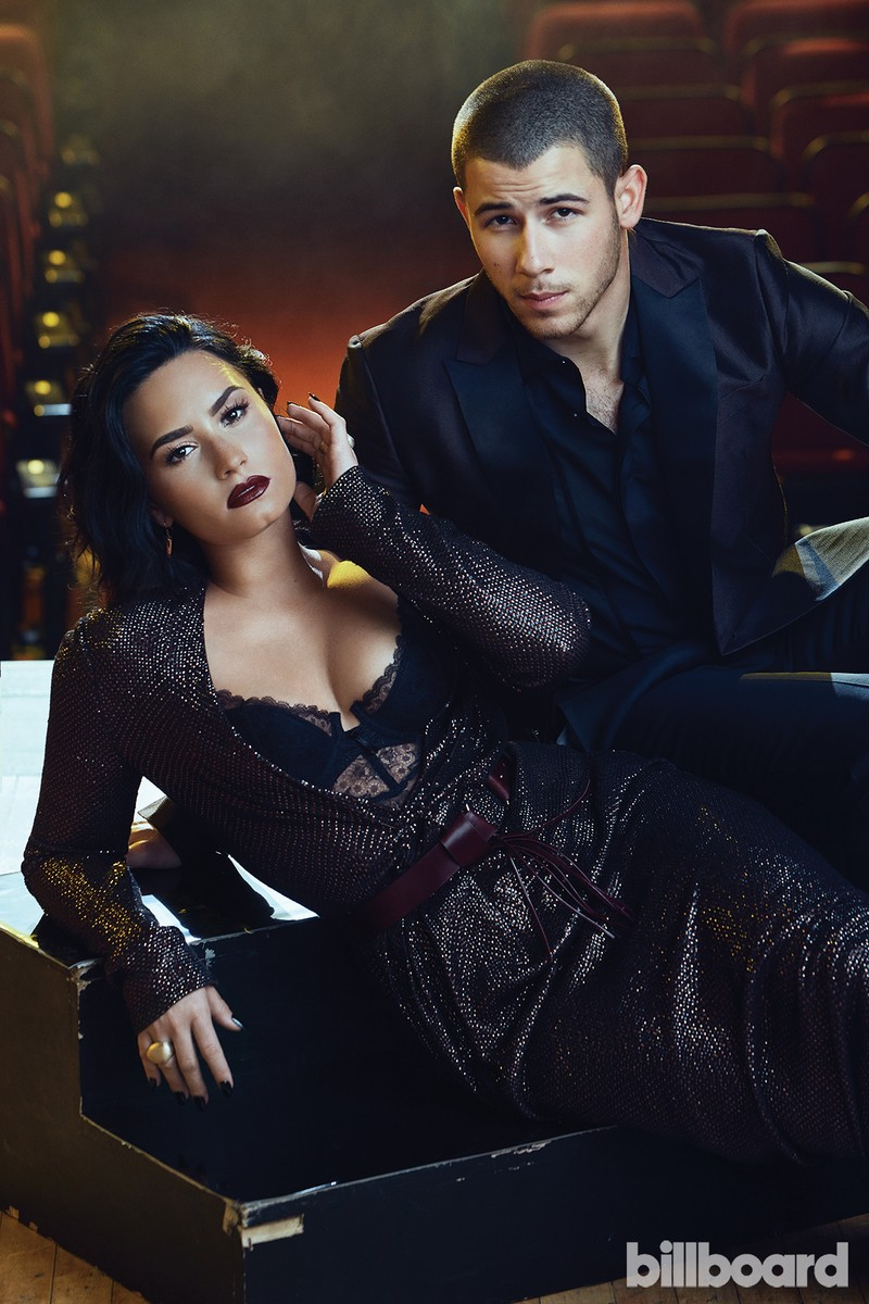 Nick Jonas and Demi Lovato photographed on June 1, 2016 at The Orpheum Theatre in Los Angeles.