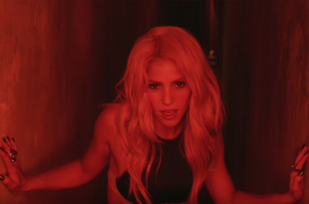 Shakira in the video for Chantaje