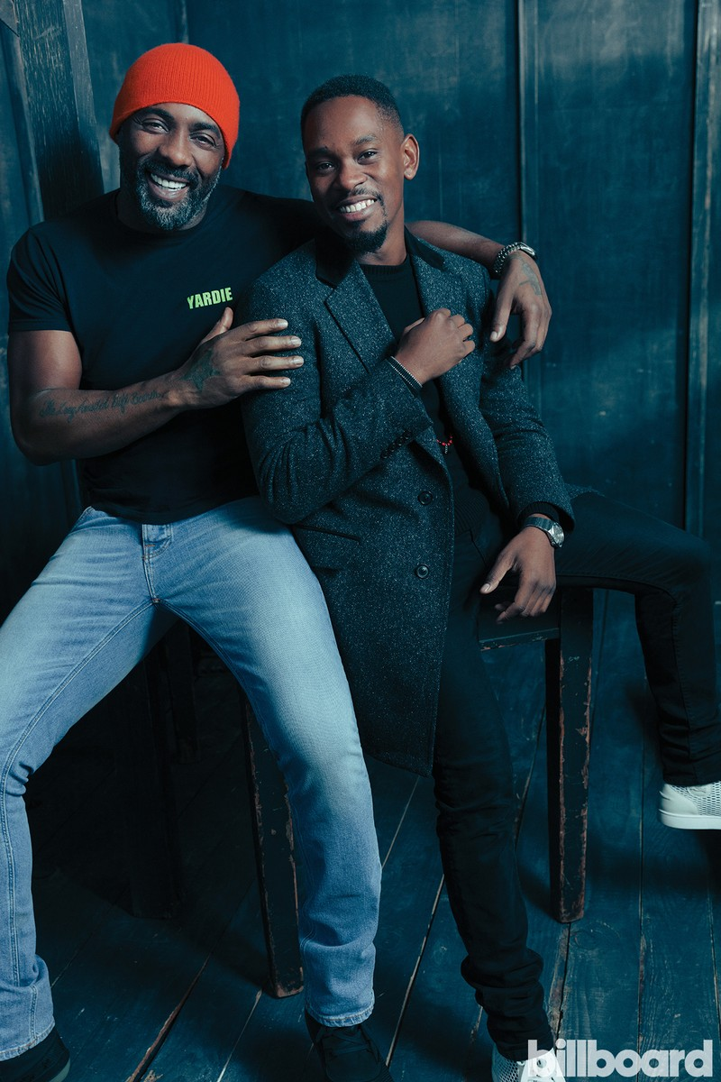 Idris Elba and Aml Ameen of Yardie