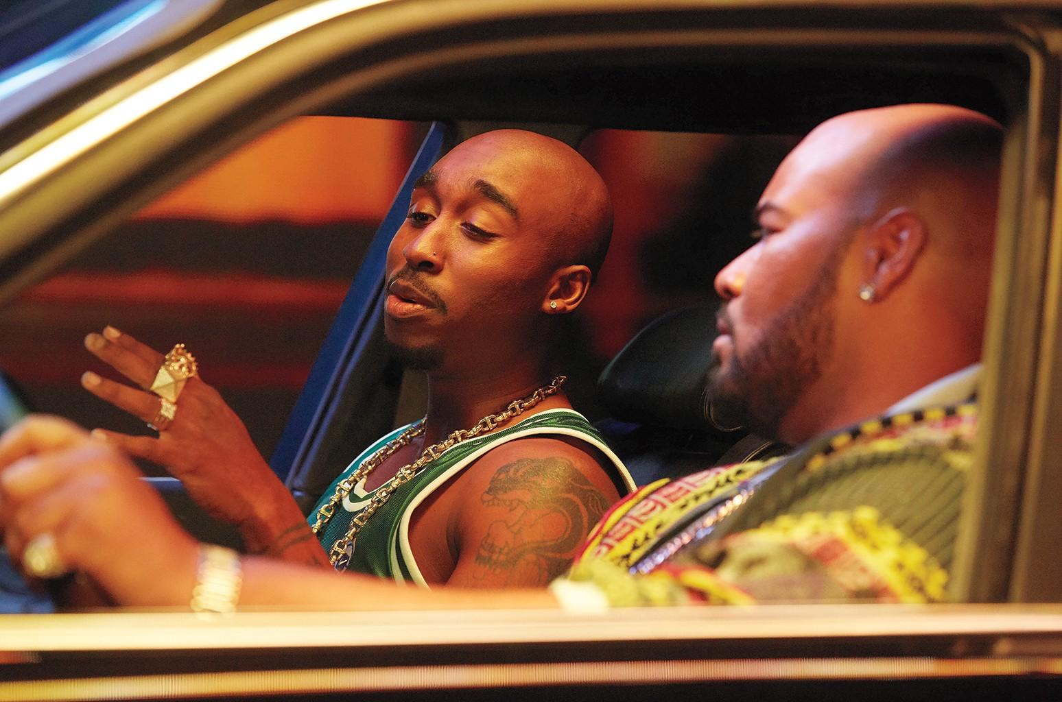 Film still from Tupac Shakur's biopic, 'All Eyez on Me'