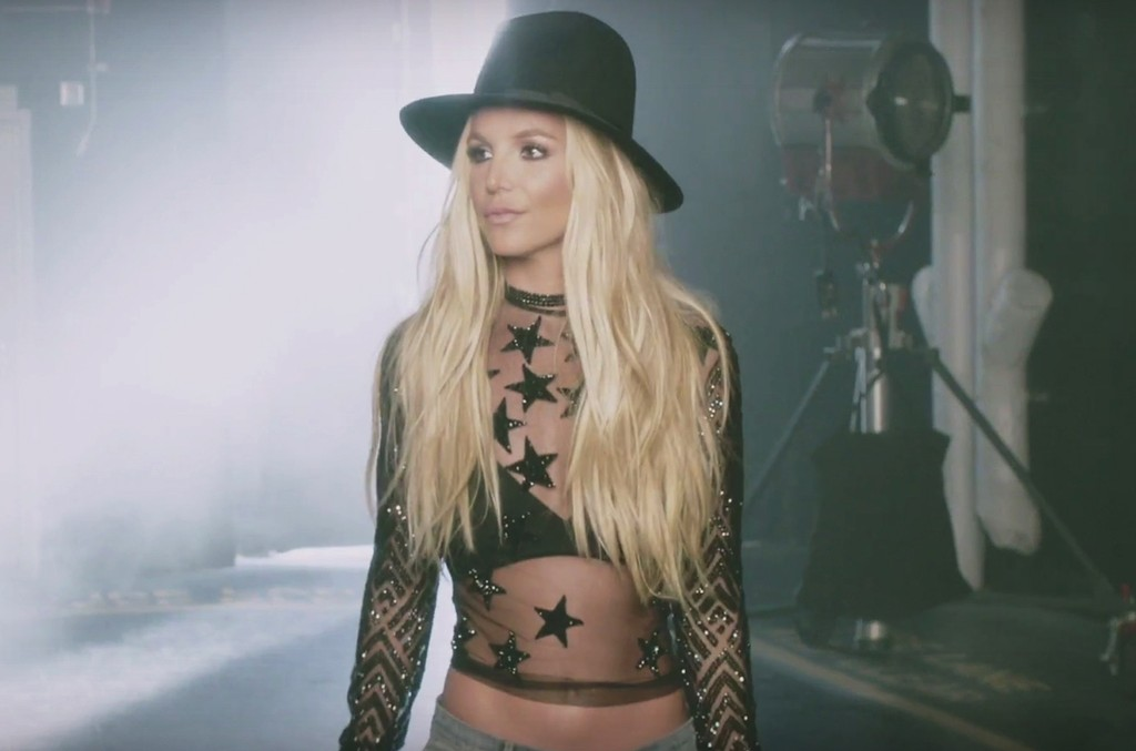 "Britney Spears in the video for ""Make Me."""