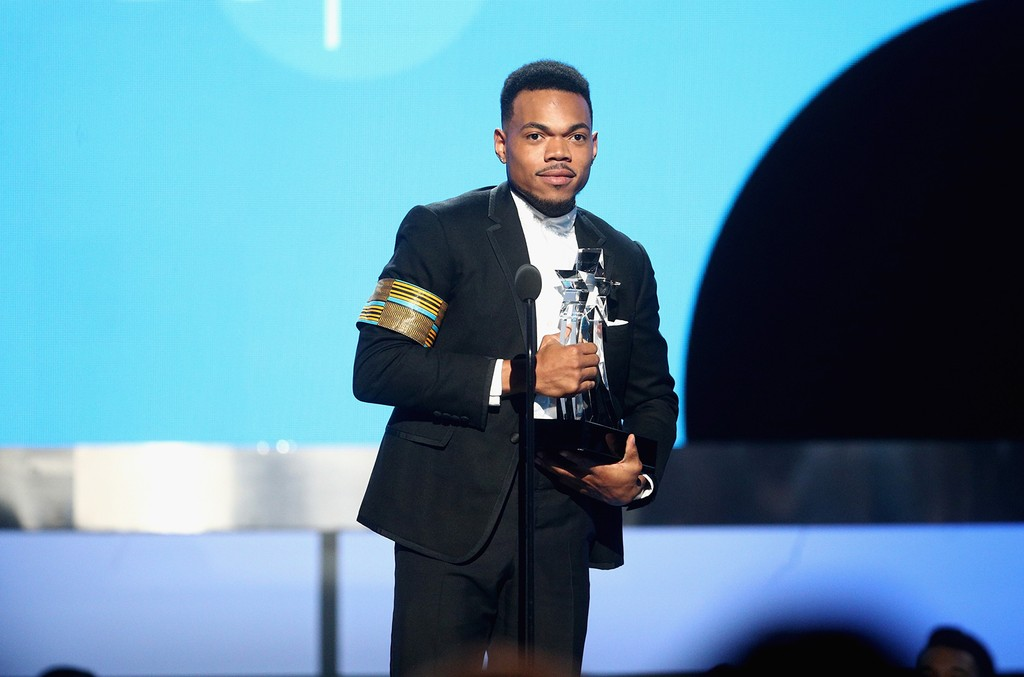 Chance The Rapper accepts the Humanitarian Award onstage at 2017 BET Awards at Microsoft Theater on June 25, 2017 in Los Angeles.