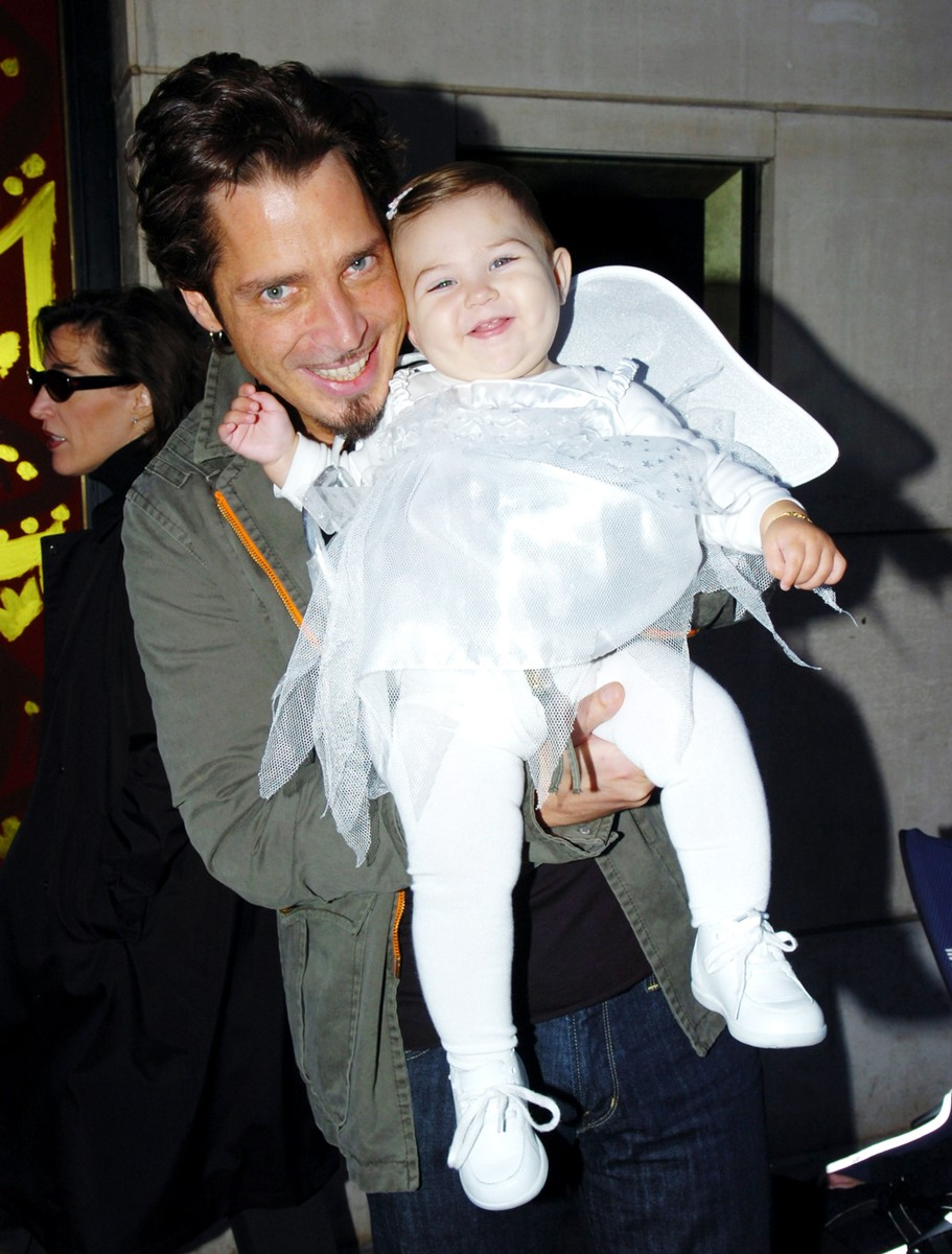Chris Cornell of Audioslave with his daughter Toni Cornell on Oct. 31, 2005.