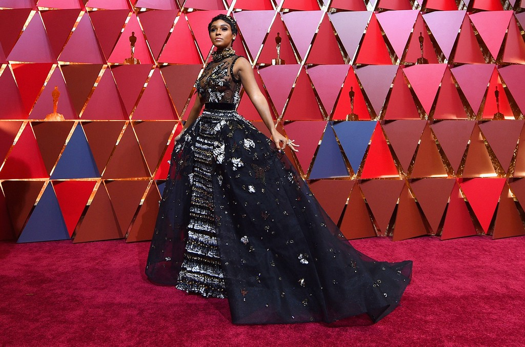 Janelle Monae attends the 89th Annual Academy Awards at Hollywood & Highland Center on February 26, 2017 in Hollywood, California.  (Photo by Kevork Djansezian/Getty Images)