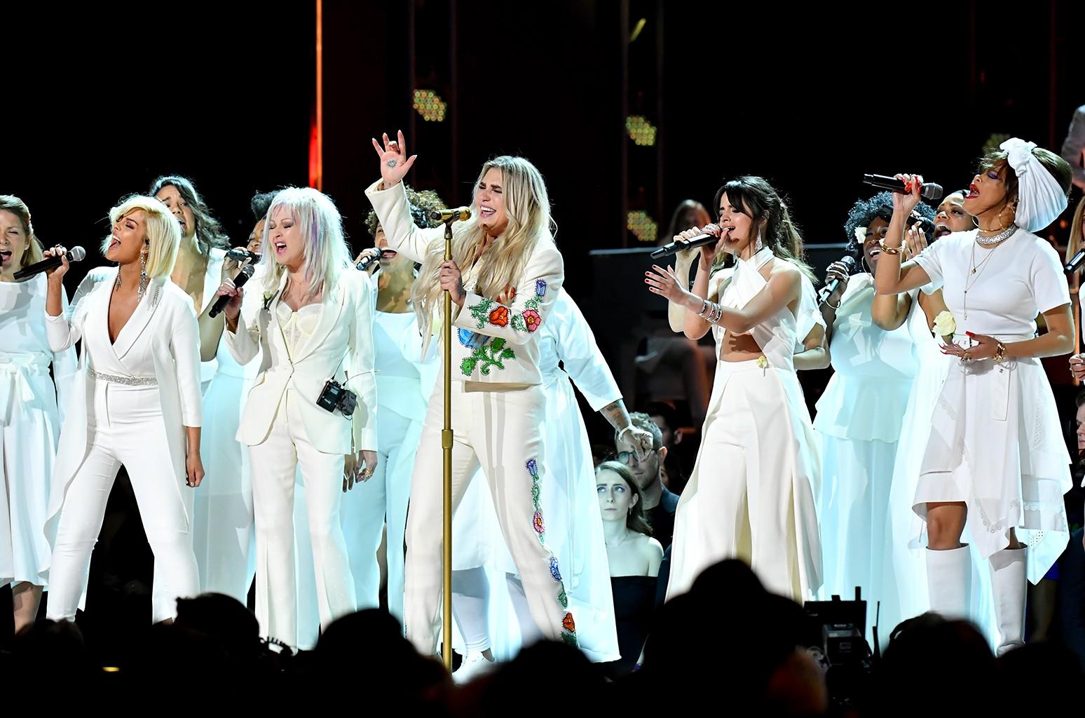 Bebe Rexha, Cyndi Lauper, Kesha, Camila Cabello and Andra Day