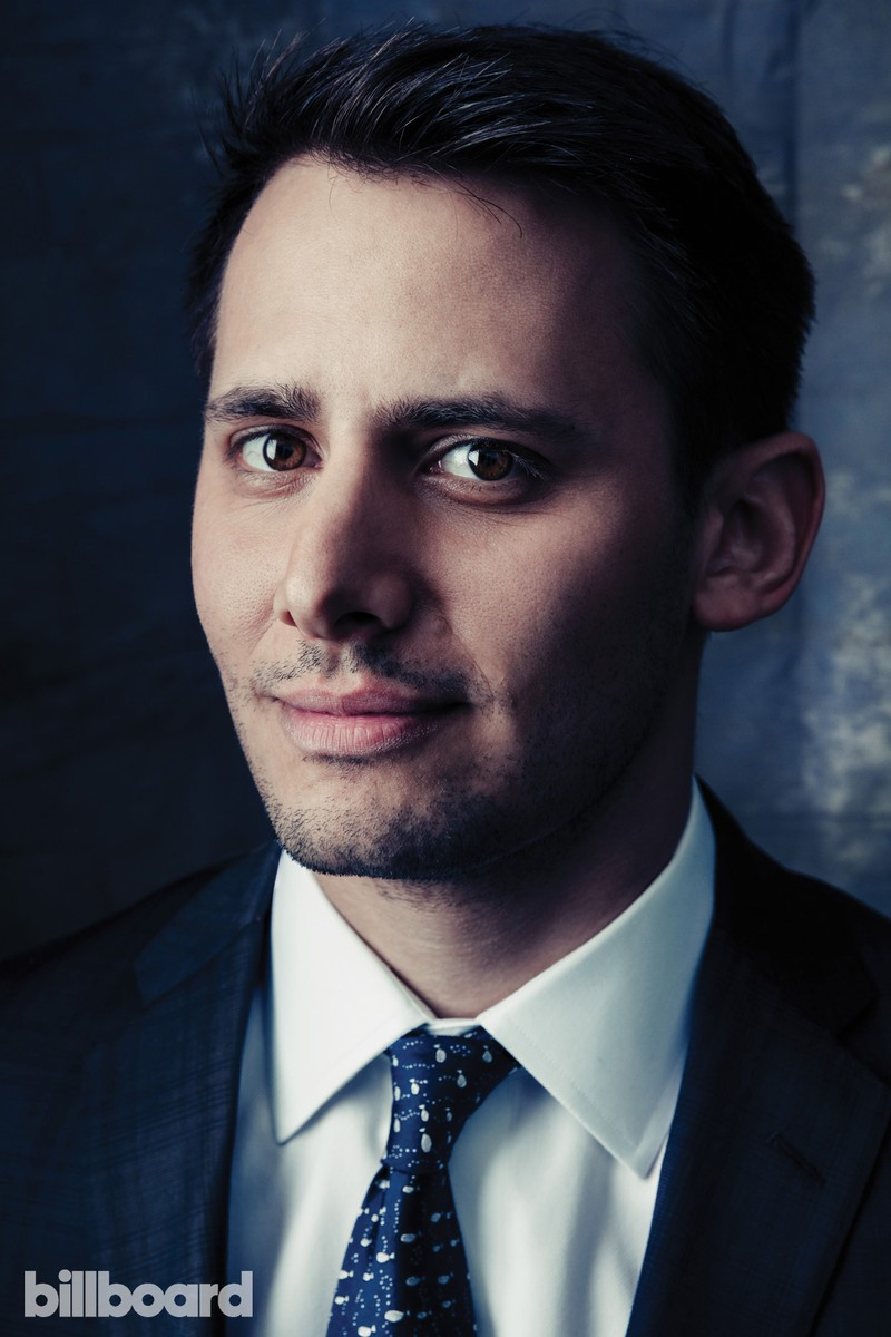 Benj Pasek, photographed Feb. 6 at The Beverly Hilton in Los Angeles.