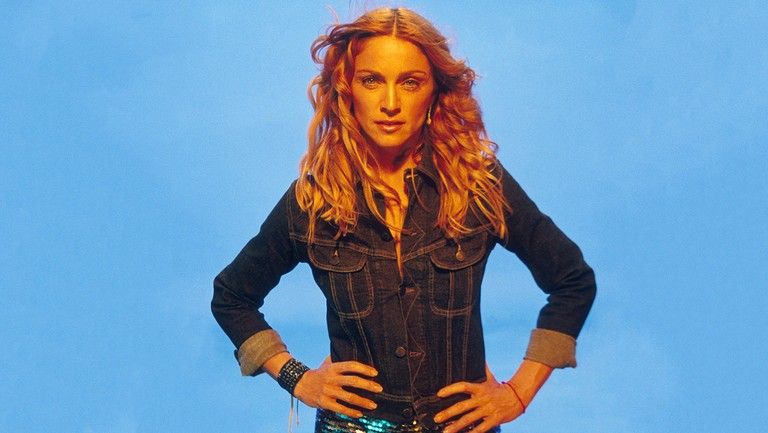 <p>Madonna on the set of her &quot&#x3B;Ray of Light&quot&#x3B; music video.</p>
