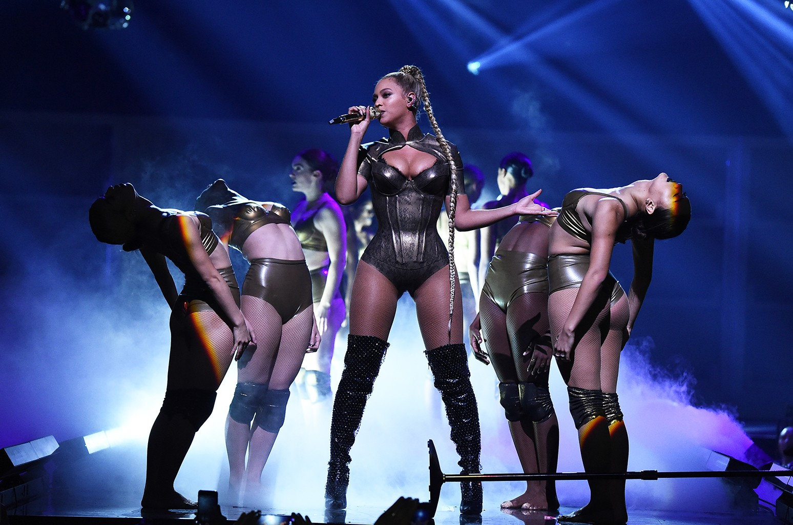Beyonce performs onstage during TIDAL X
