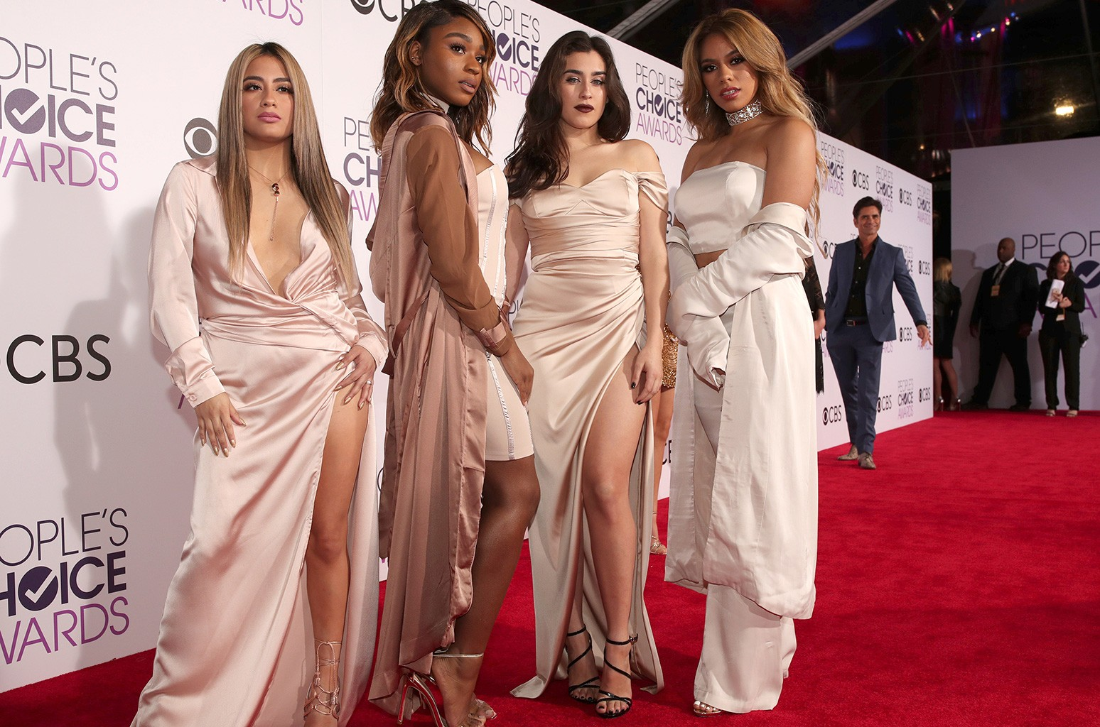 Ally Brooke, Normani Kordei, Lauren Jauregui, and Dinah Jane of music group Fifth Harmony attend  the People's Choice Awards 2017 at Microsoft Theater on Jan. 18, 2017 in Los Angeles.