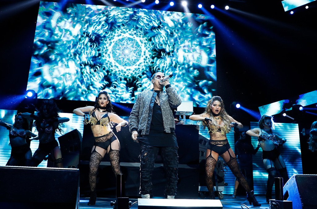 J Alvarez performs during Mega 96.3's Calibash 2017 at Staples Center on Jan. 21, 2017 in Los Angeles.