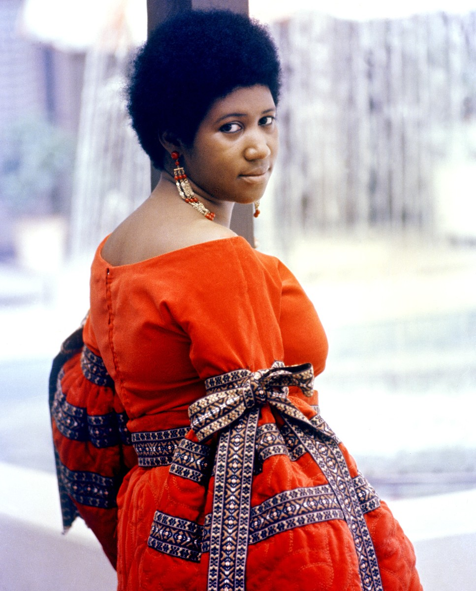 Aretha Franklin poses for a portrait in circa 1968.